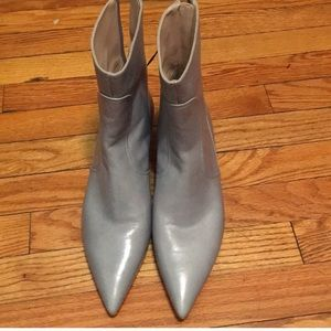 Zara leather boots brand new